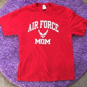 Air Force Mom red t-shirt